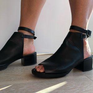 Zara block heel leather sandals
